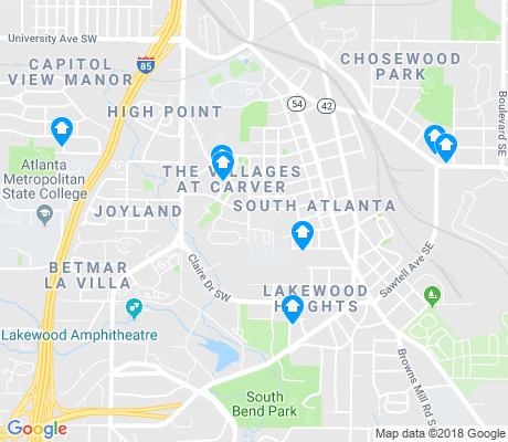 map of Lakewood Heights apartments for rent