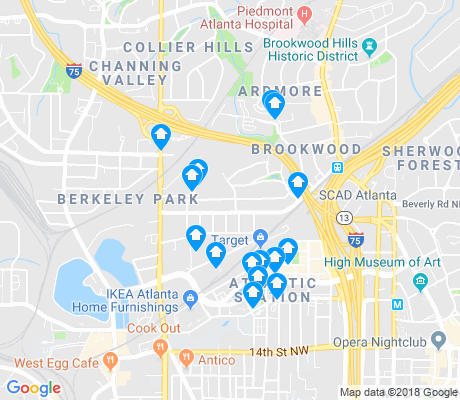 map of Loring Heights apartments for rent
