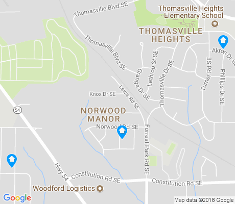 map of Norwood Manor apartments for rent