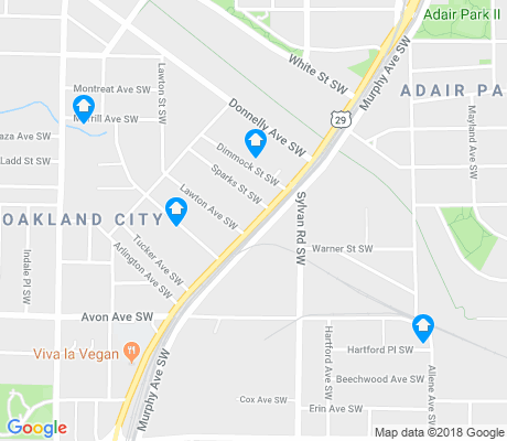 map of Oakland City apartments for rent