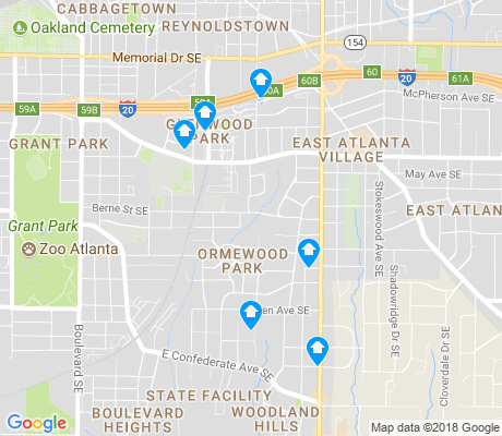 map of Ormewood Park apartments for rent