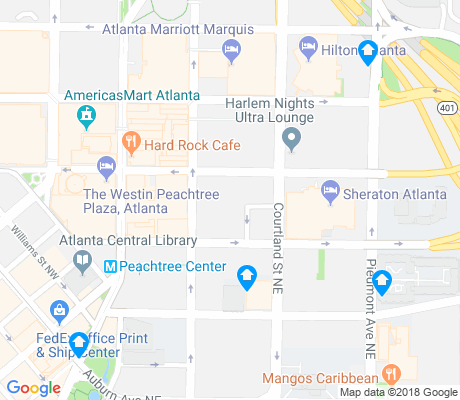 map of Peachtree Center apartments for rent