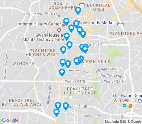 map of Peachtree Heights West apartments for rent