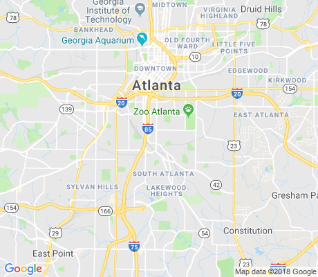 map of Peoplestown apartments for rent