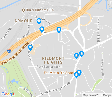 map of Piedmont Heights apartments for rent