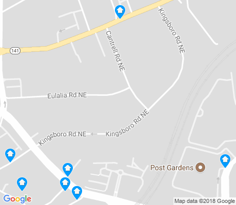 map of Ridgedale Park apartments for rent