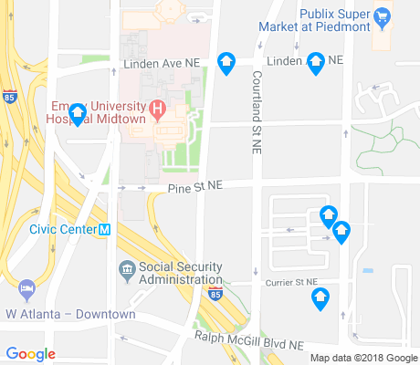 map of SoNo apartments for rent
