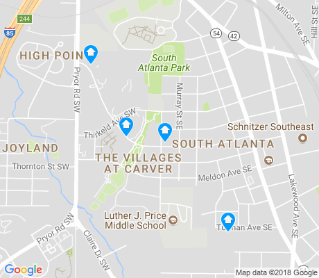 map of South Atlanta apartments for rent