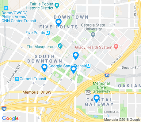 map of South Downtown apartments for rent