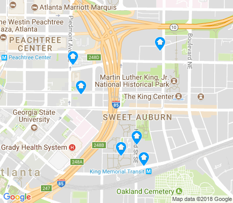 map of Sweet Auburn apartments for rent