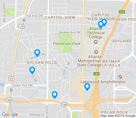 map of Sylvan Hills apartments for rent