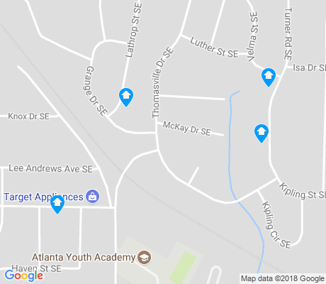 map of Thomasville Heights apartments for rent