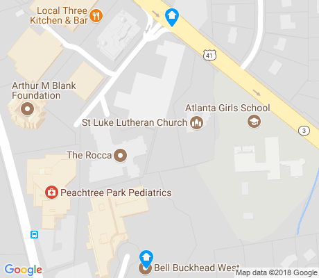 map of West Paces Ferry apartments for rent