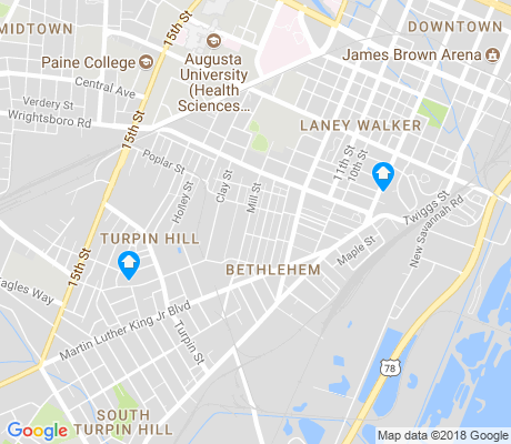 map of Bethlehem apartments for rent