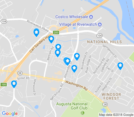 map of National Hills apartments for rent