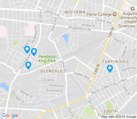 map of Pendelton King apartments for rent