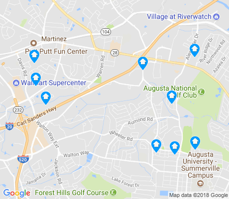 map of West Augusta apartments for rent