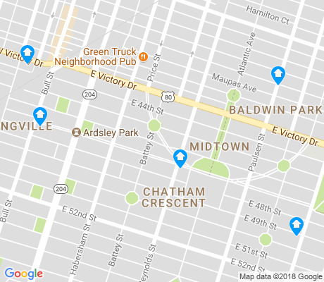 map of Ardsley Park - Chatham Cresent apartments for rent