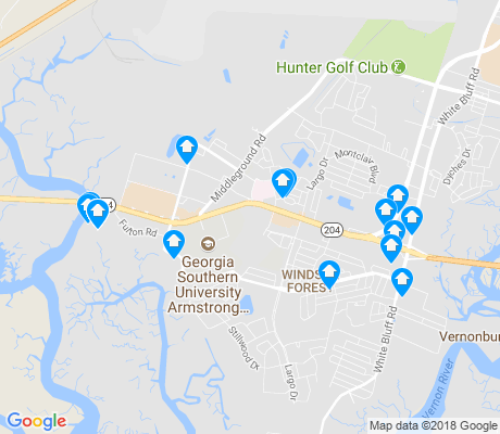 map of Windsor Forest apartments for rent