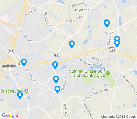 map of Snellville apartments for rent