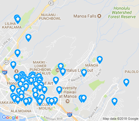 map of 96822 apartments for rent