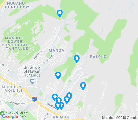 map of Palolo apartments for rent