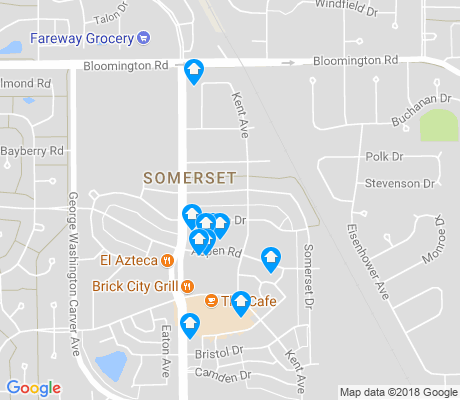 map of Somer Street apartments for rent