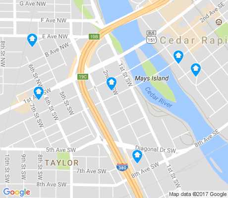 map of Taylor apartments for rent