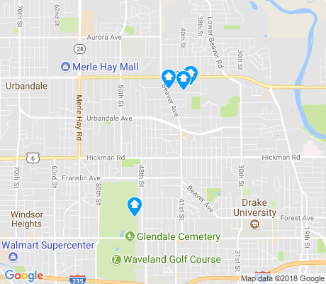 map of Beaverdale apartments for rent