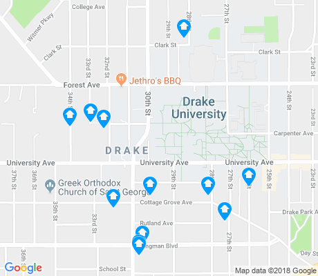 map of Drake apartments for rent