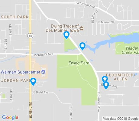 map of Easter Lake Area apartments for rent