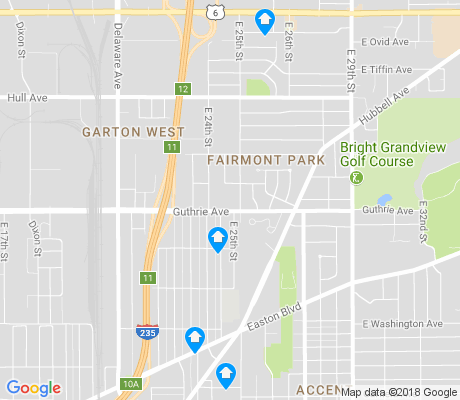 map of Fairmont Park apartments for rent