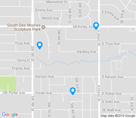 map of Fort Des Moines apartments for rent