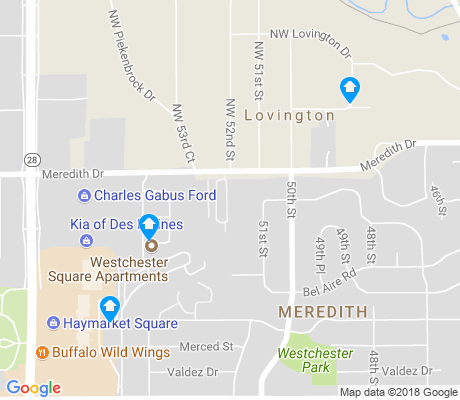 map of Meredith apartments for rent