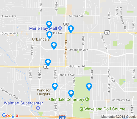 map of Merle Hay apartments for rent