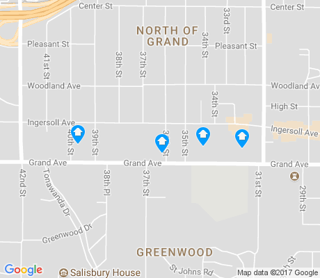 map of North of Grand apartments for rent