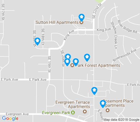 map of Pioneer Park apartments for rent