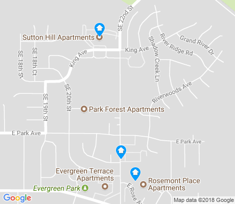 map of River Woods apartments for rent