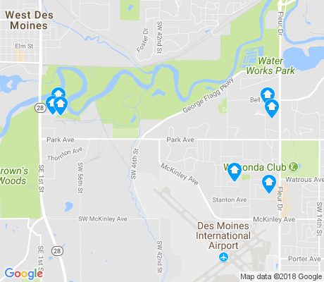 map of Southwestern Hills apartments for rent