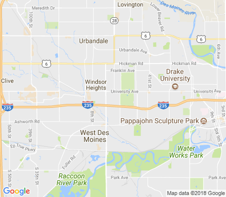 map of Waveland Woods apartments for rent