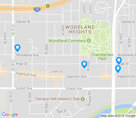 map of Woodland Heights apartments for rent