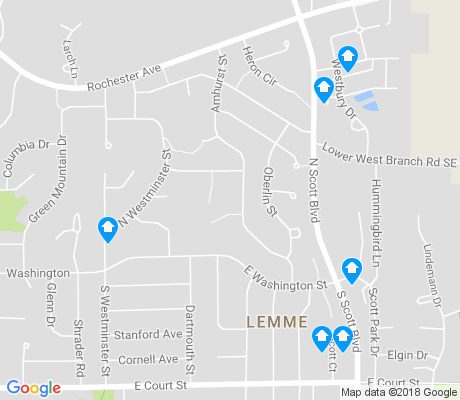 map of Lemme apartments for rent