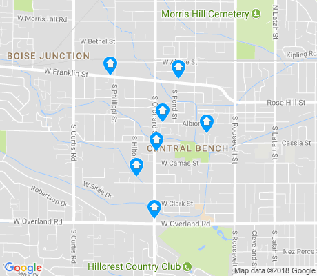 map of Central Bench apartments for rent