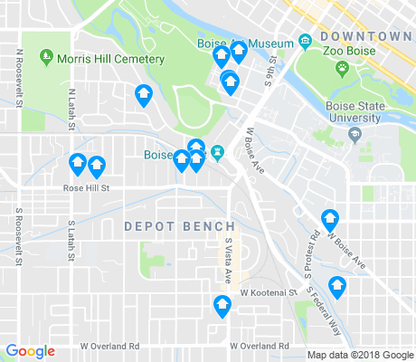 map of Depot Bench apartments for rent
