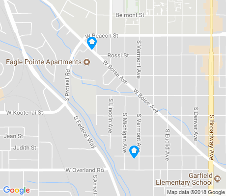 map of South Boise Village apartments for rent
