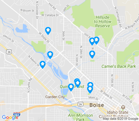 map of Veterans Park apartments for rent