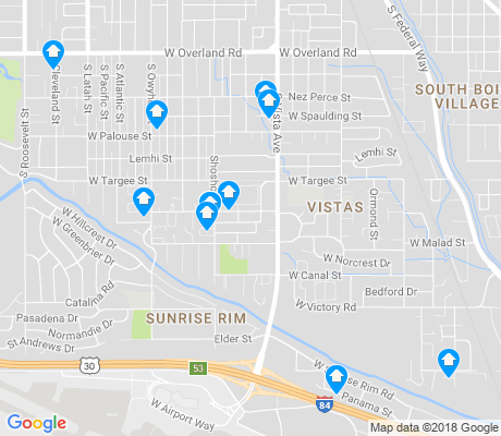 map of Vista apartments for rent