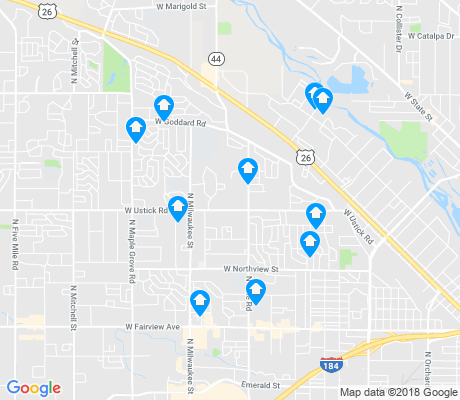 map of West Bench apartments for rent