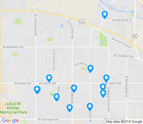 map of West Valley apartments for rent