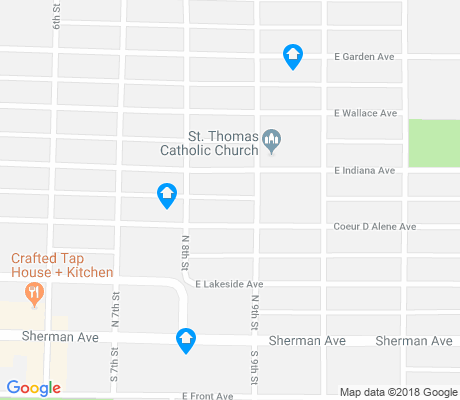 map of Garden Park apartments for rent